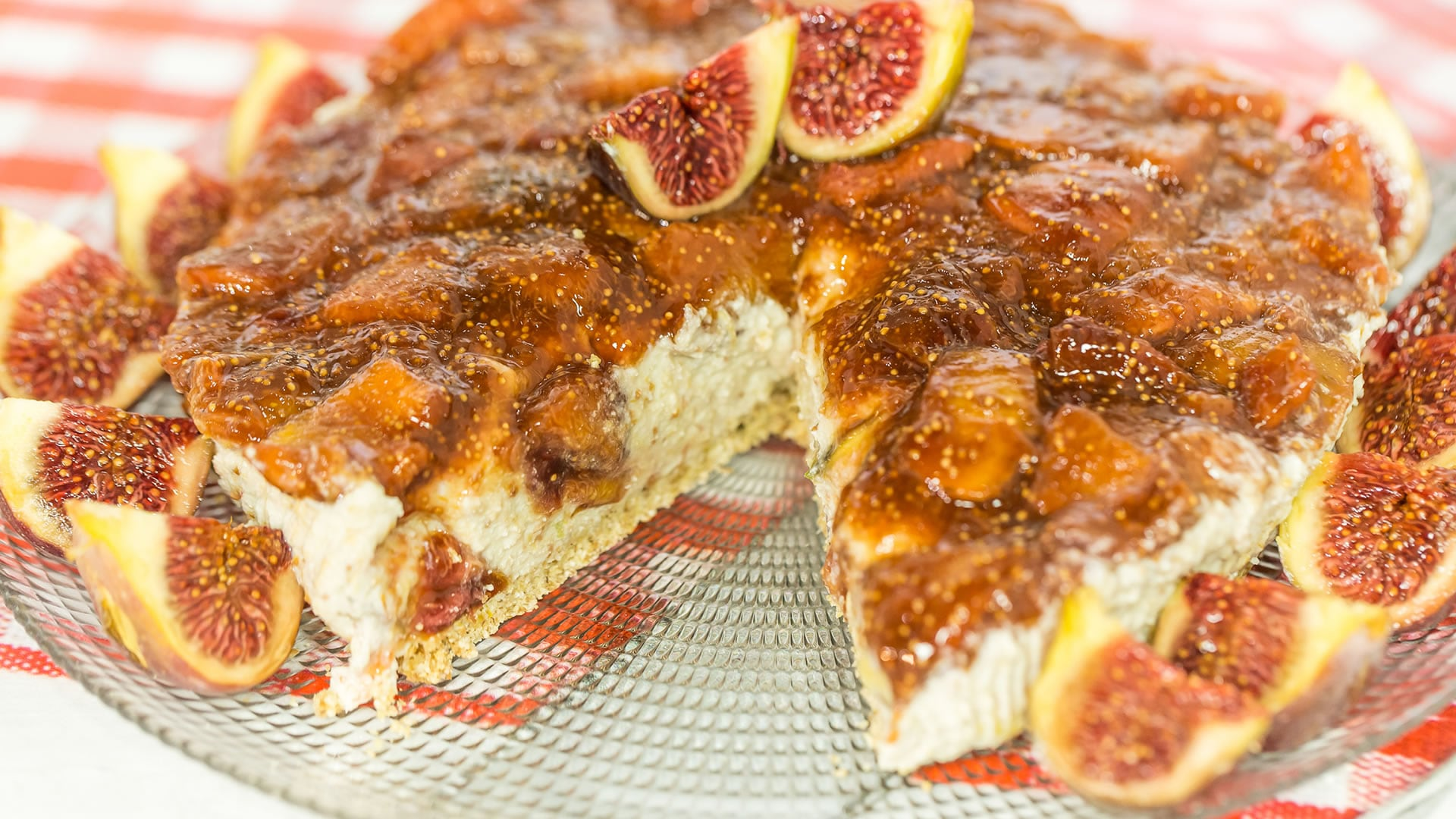Foto Cheesecake Proteica Light ai Fichi - Senza Cottura